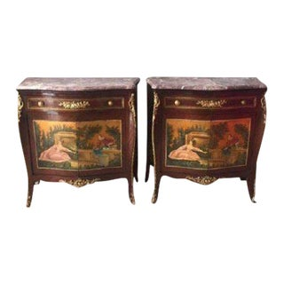 19th Century French Louis XVI Marble Top Commodes - a Pair For Sale