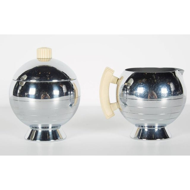 1930s Art Deco Machine Age Coffee Service Set by Walter Von Nessen for Chase For Sale - Image 5 of 10