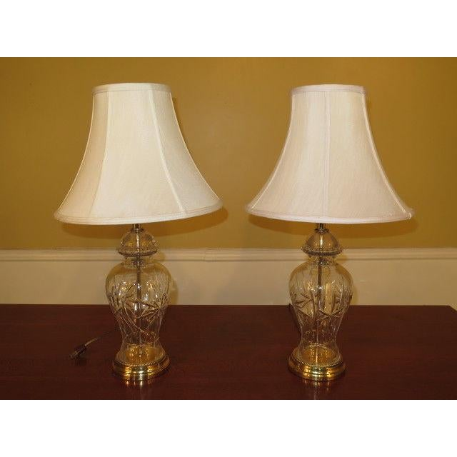 Waterford Crystal & Brass Table Lamps - a Pair For Sale - Image 10 of 10