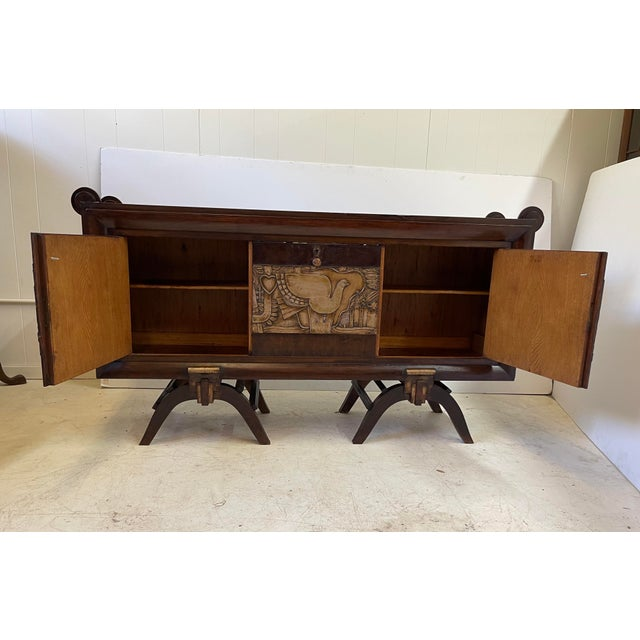 French Art Deco Bar Cabinet With Mirrored Interior For Sale - Image 9 of 13