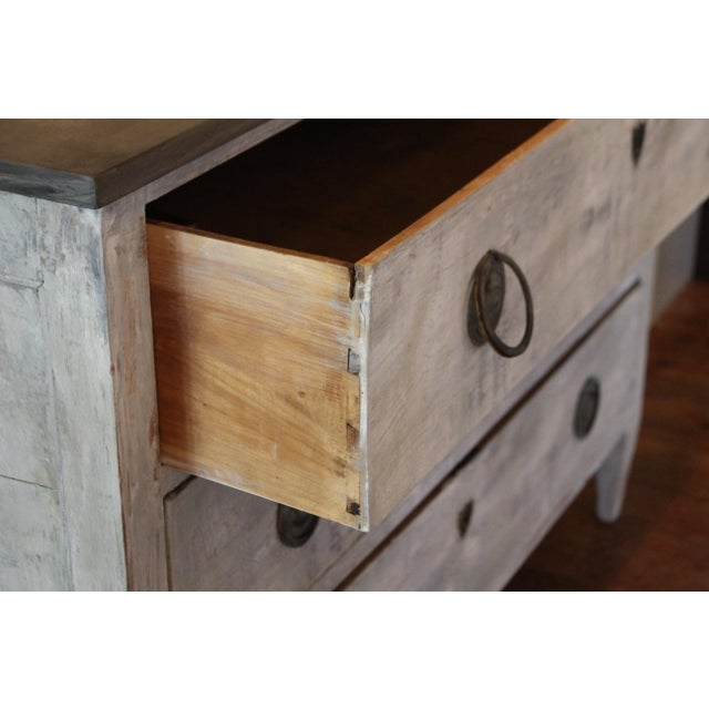 Swedish Style Painted Pine Chest of Drawers For Sale In Nashville - Image 6 of 7