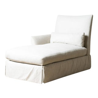 New Upholstered Ridge Chaise For Sale