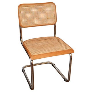 Mid Century Modern Cane Bentwood Cantilever Dining Chair in the Stye of Thonet For Sale