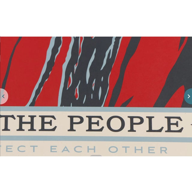 "Blue Three Shepard Fairey Serigraph Prints ""We the People"" For Sale - Image 8 of 13"