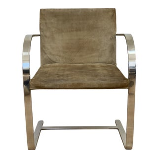 Knoll Brno Flat Bar Chair With Suede Leather For Sale