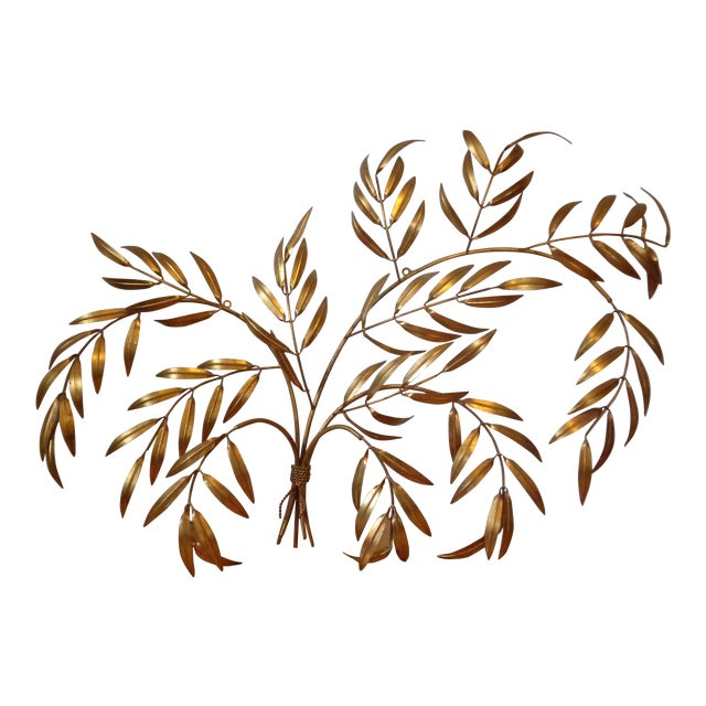 Gilded Italian Frond Wall Sculpture - Image 1 of 5