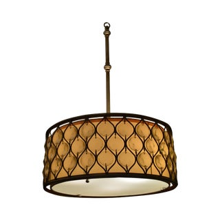 "Fine Arts Lamp 18"" Round Pendant Chandelier (A) For Sale"