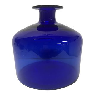 Blenko Cobalt Blue Vase For Sale
