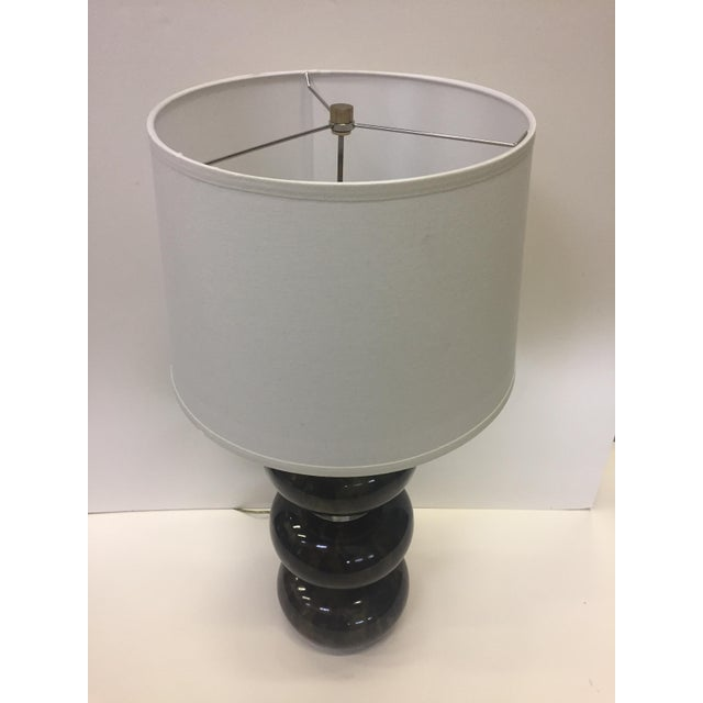 Karl Springer Lacquered Wood and Lucite Table Lamp For Sale - Image 9 of 12
