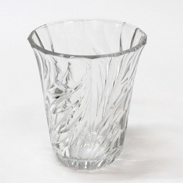 Val St Lambert Crystal Vase Chairish