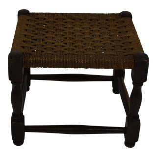 Early 1900s English Foot Stool For Sale