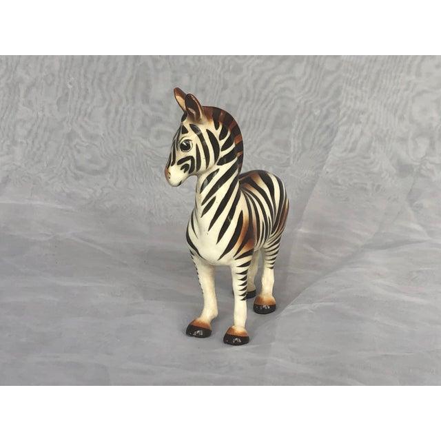 Mid-Century Modern Fern Importation Ceramic Zebra Figurine For Sale - Image 4 of 12