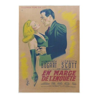 1947 French Humphrey Bogart Movie Poster