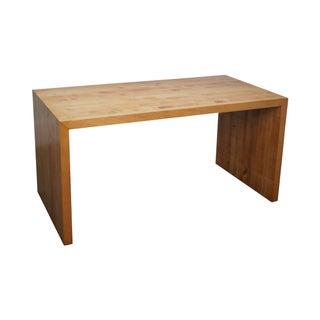 Mid-Century Parsons Slab Desk