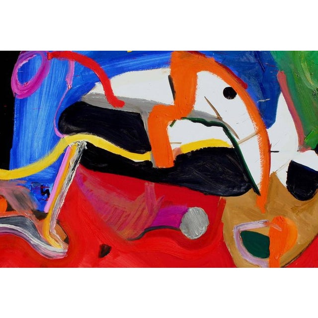 Dynamic abstract expressionist painting by Leslie Luverne Anderson (American 1928-2009). Les Anderson owned and operated...