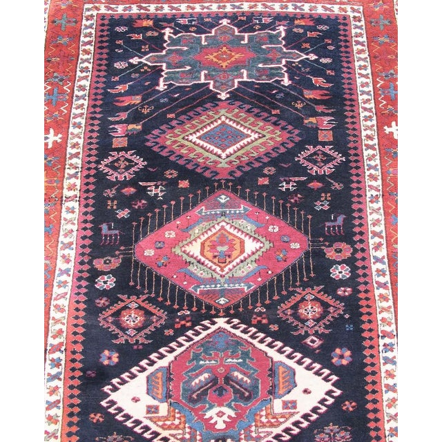 Karadagh rugs can be some of the finest village rugs woven in Northwest Persia. This colorful and elegant runner is an...