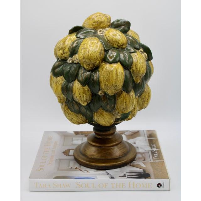 Italian Vintage Italian Floral Lemon Tree / Topiary For Sale - Image 3 of 13