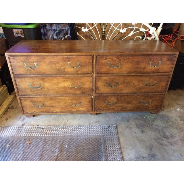 Vintage Henredon Artefacts Campaign Dresser - Image 2 of 11