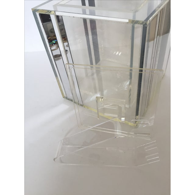 Lucite Ice Bucket With Mirrored Accents For Sale - Image 4 of 8