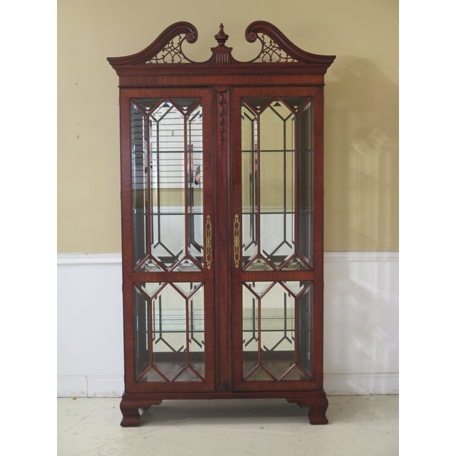 Henkel Harris Model #2348 Mahogany Curio Display Cabinet For Sale - Image 12 of 12