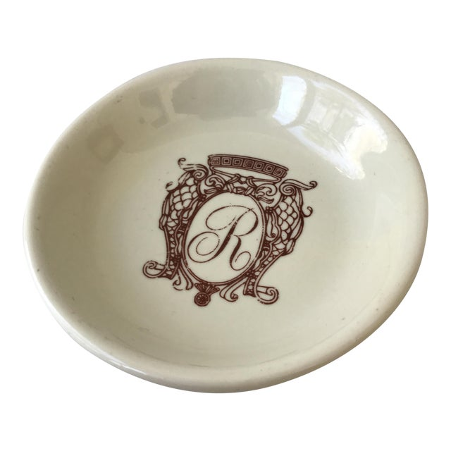 Monogrammed Accent Dish For Sale