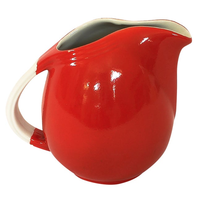 Vintage Hall's Superior Quality Red Pitcher - Image 1 of 4