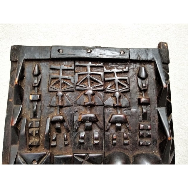 African Early 20th Century African Carved Granary Door From Africa - Mali For Sale - Image 3 of 11