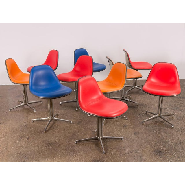 Red La Fonda Eames Chair for Herman Miller For Sale - Image 9 of 11