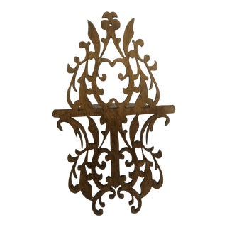 Intricate Cutwork Wall Shelf For Sale