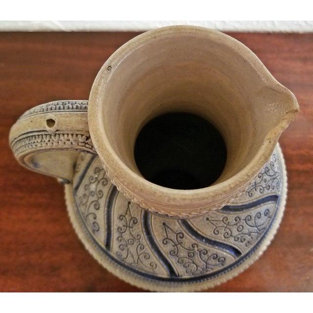 """1584 Flemish Salt Glazed Pottery Beer Ewer """"Story of Susanna"""" After Engel Kran For Sale - Image 9 of 13"""