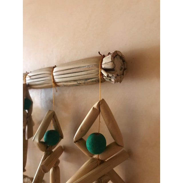 Contemporary Hand Woven Grass Fish Beaded Curtain For Sale - Image 3 of 6
