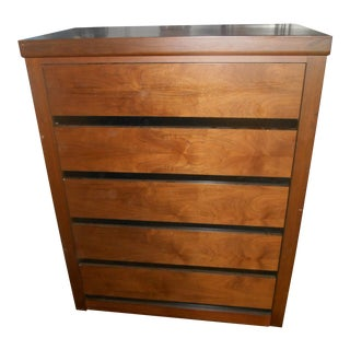 1980s Vintage Dillingham Danish Modern Chest of Drawers by Merton Gershun For Sale