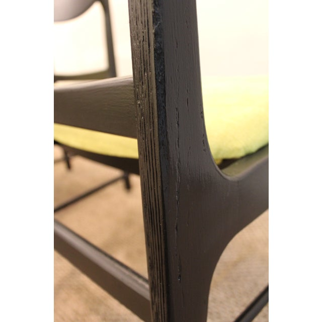Mid-Century Danish Modern Ebonized 'Citron' Curved Back Dining Chairs - Set of 4 - Image 10 of 11