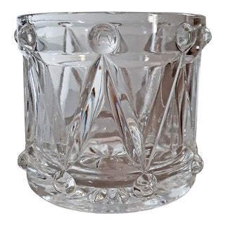 Vintage Teleflora Crystal Drum Bucket For Sale