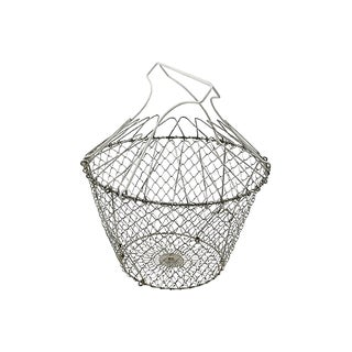 Vintage French Market Collapsible Egg Basket For Sale