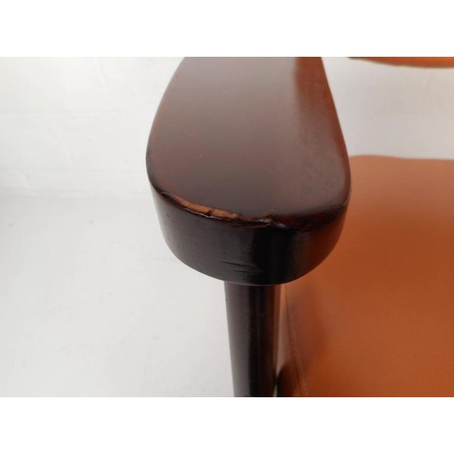 Mid-Century Modern Vinyl Dining Chairs - Set of 4 - Image 8 of 8