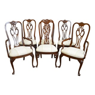 Ethan Allen 18th Century Mahogany Collection Set of 6 Dining Chairs