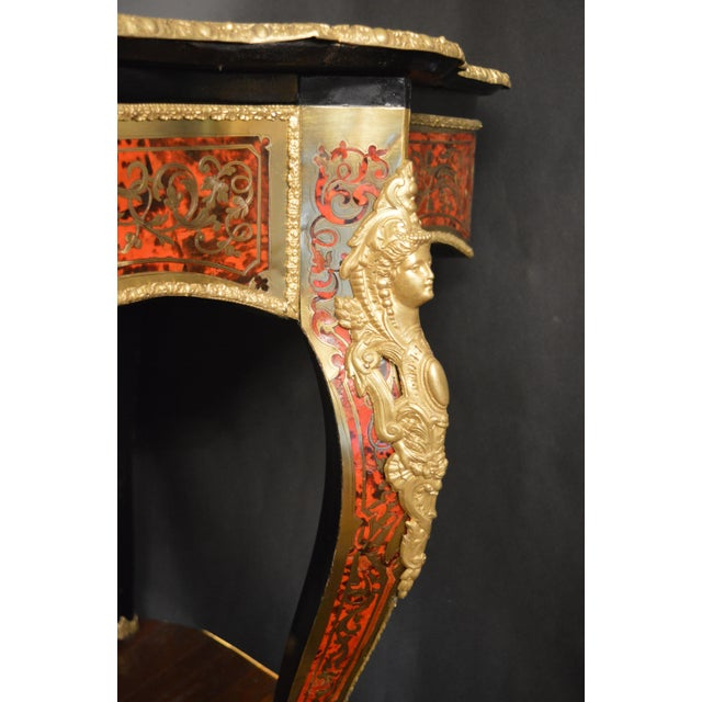 19th Century Tortoise Shell Table With Boulle Marquetry For Sale - Image 10 of 13