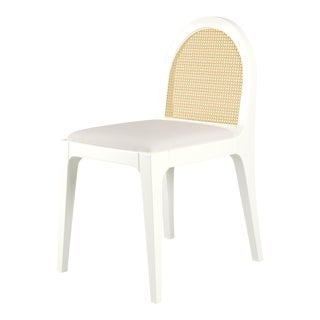 Juliette Dining Chair - Simply White, Optic White Linen For Sale