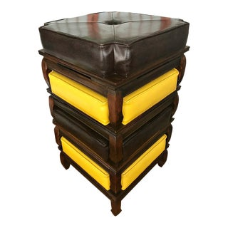 Mid-Century Modern Asian Stackings Stools/Ottomans (4)