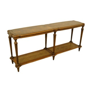 20th Century French Ethan Allen Legacy Collection Accent Sofa Table For Sale