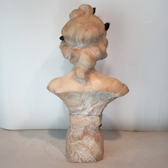 Antique 1920s Italian Alabaster Bust - Image 4 of 10