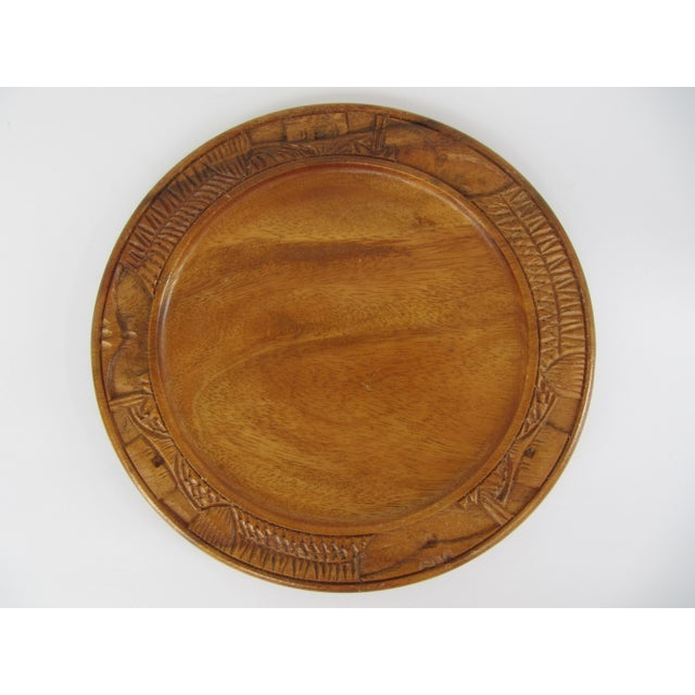 vintage carved bread board chairish