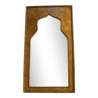 """48"""" Gold Moorish Arch Mirror Faux Bamboo Frame For Sale"""
