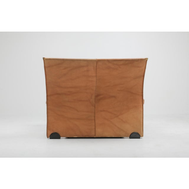 1970s Thick Camel Leather Club Chairs by Titiana Ammanati & Giampiero Vitelli for Brunati - 1970s For Sale - Image 5 of 12