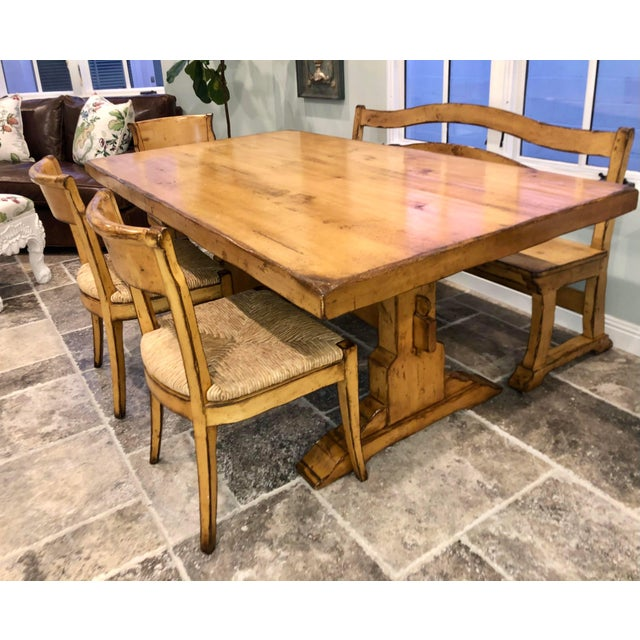 Woodland Furniture French Country Trestle Dining Table ...