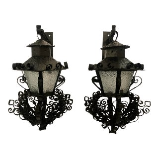 Pair Midcentury Outdoor Sconces For Sale