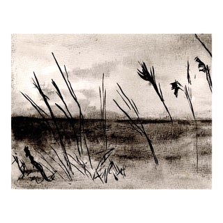 """Dunes"", Original Ink Drawing Circa 1971 For Sale"