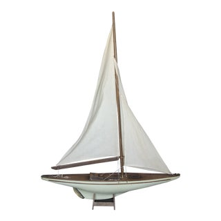 Vintage Handmade Model Sailboat For Sale