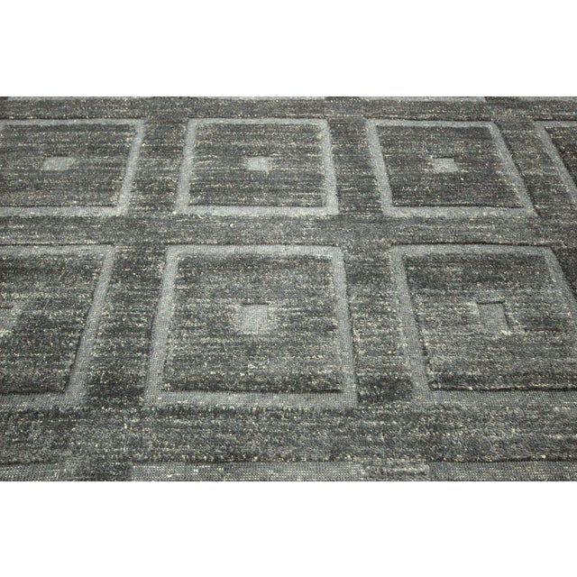 "Square Black Gabbeh Kashkuli Rug - 6'8"" x 10' - Image 8 of 10"
